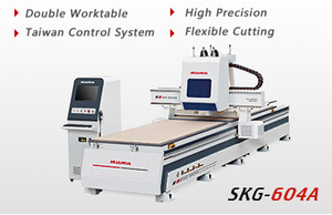 CNC router( four spindles, double worktable)